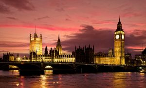 Houses Of Parliament, River Thames and Westminster Bridge, London, England
